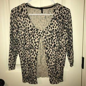 Maurice's Cheetah Cardigan